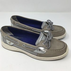 Sperry Top-Sider Gray/Silver Boat Deck Shoe
